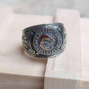 Elite Ulfhednar Wolf Rune - No Mercy Adjustable Viking Ring (R061)-Ring-Viking Merch