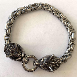 Furious Wolf Bracelet (B032)-Bracelet-Viking Merch