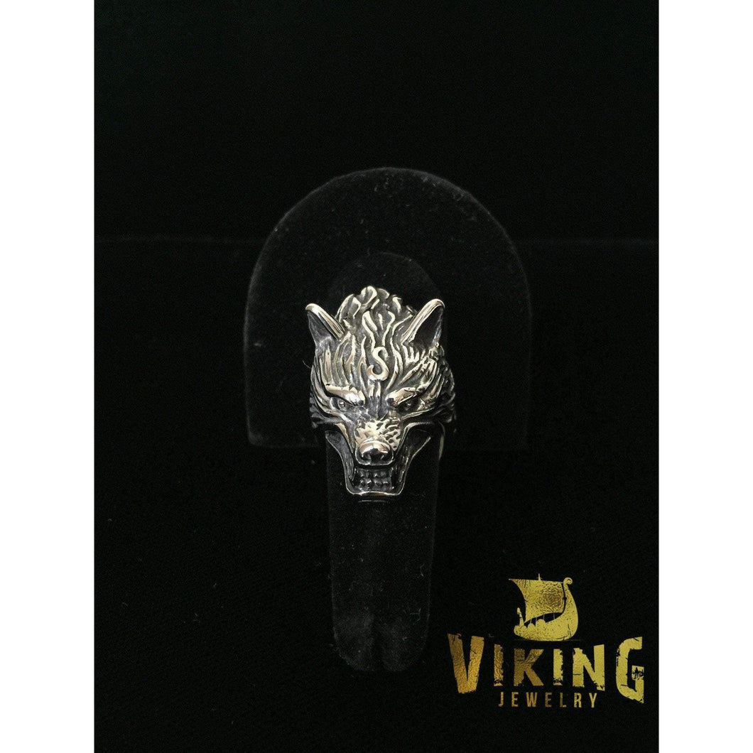 Furious Wolf Ring (R014)-Ring-Viking Merch