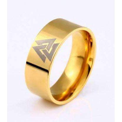 Gold Valknut Band (R071)-Ring-Viking Merch
