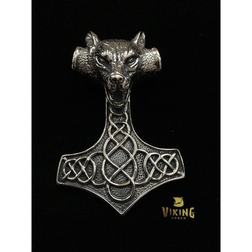 HUGE OR Small Viking Wolf Thor Hammer (TH004)-Necklace-Viking Merch