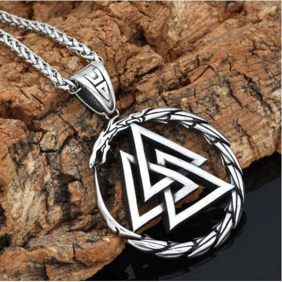 Jormungandr Valknut Necklace-Necklace-Viking Merch