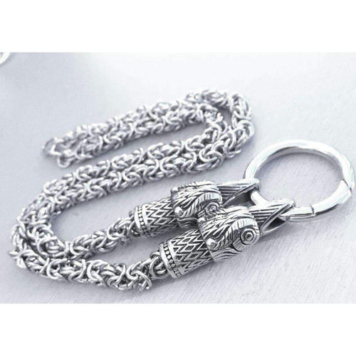 Kings Chain with Raven Heads-Necklace-Viking Merch