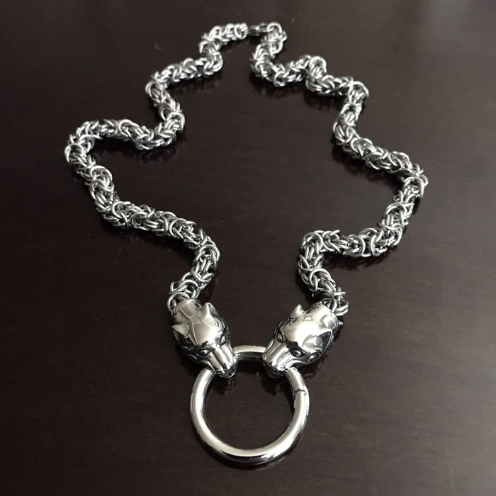 Kings Chain with Wolf Heads-Necklace-Viking Merch