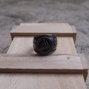 Legendary Valknut Adjustable Viking Ring (R064)-Ring-Viking Merch