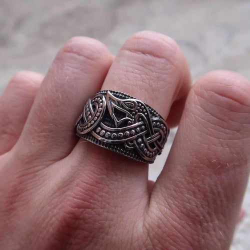 Legendary Viking Dragon Ring (R066)-Ring-Viking Merch