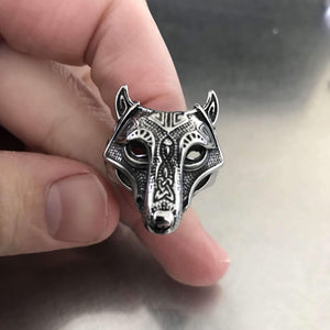 Nature Wolf Ring (R031)-Ring-Viking Merch