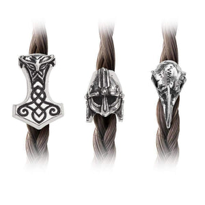 Norsebraid Hair and Beard Beads - 3 Piece Set (BR017)-Beard Ring-Viking Merch