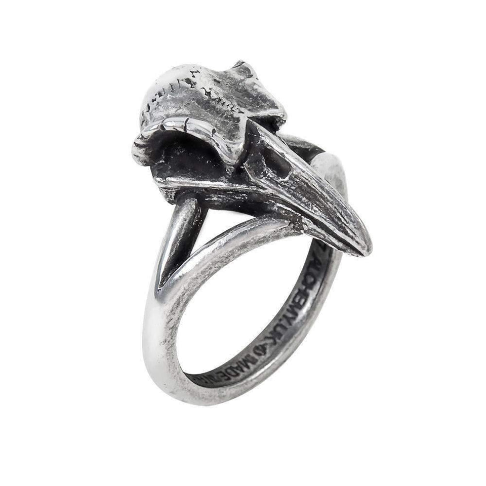 Rabeschadel Kleiner Ring (R035)-Ring-Viking Merch