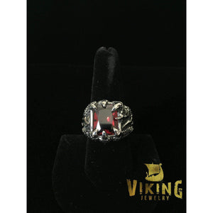 Red Rock Dragon Claw Ring (R011)-Ring-Viking Merch