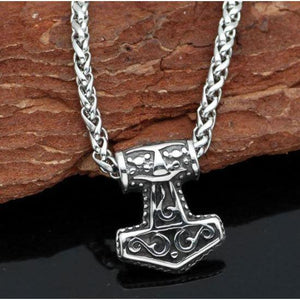 Small Thor Hammer Necklace-Necklace-Viking Merch