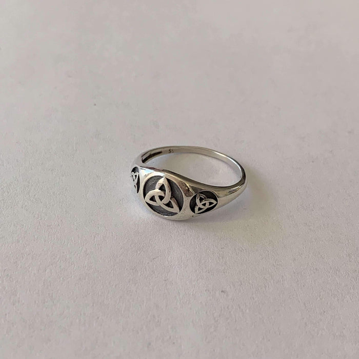 Sterling Silver Small Trinity Ring (R024)-Ring-Viking Merch