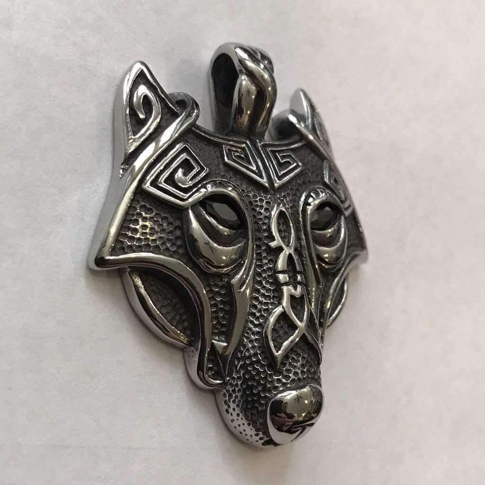 The Nature Guardian Wolf (VN038)-Necklace-Viking Merch
