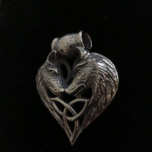 Trinity Wolf Pendant (VN015)-Necklace-Viking Merch