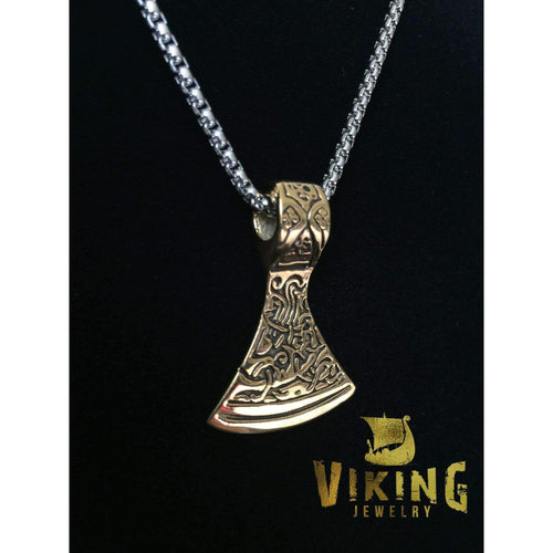 Viking Axe Pendant (VN020)-Necklace-Viking Merch