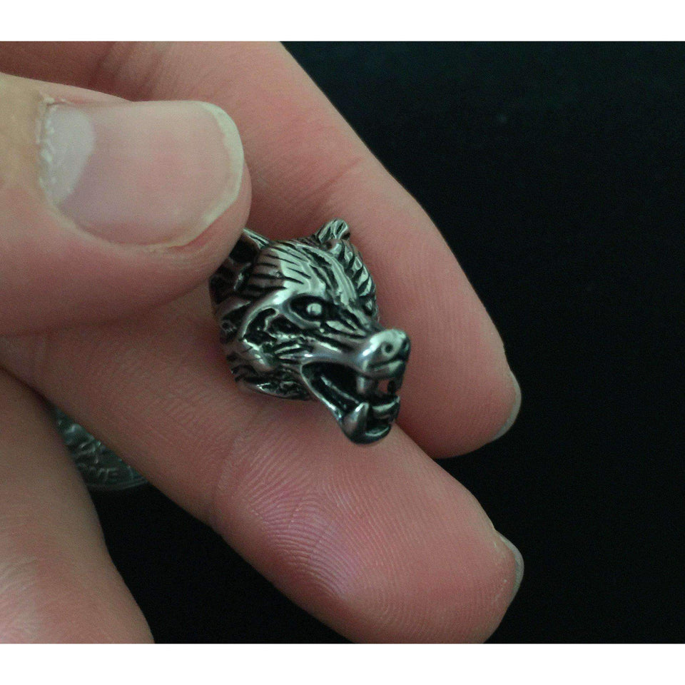 Viking Wolf Beard Ring (BR008)-Beard Ring-Viking Merch