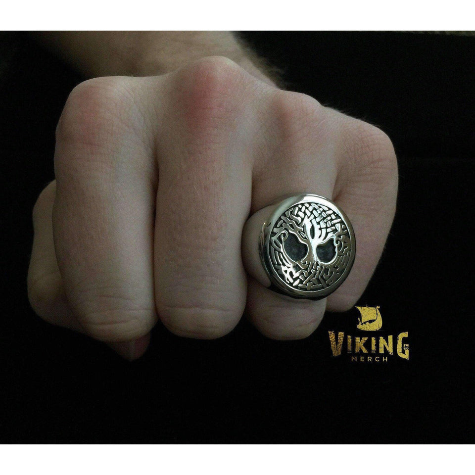 World Tree Ring (R003)-Ring-Viking Merch
