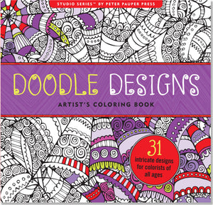 Doodle Designs Artists Colouring Book