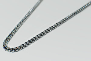 Stainless Steel Square Box Chain Necklace