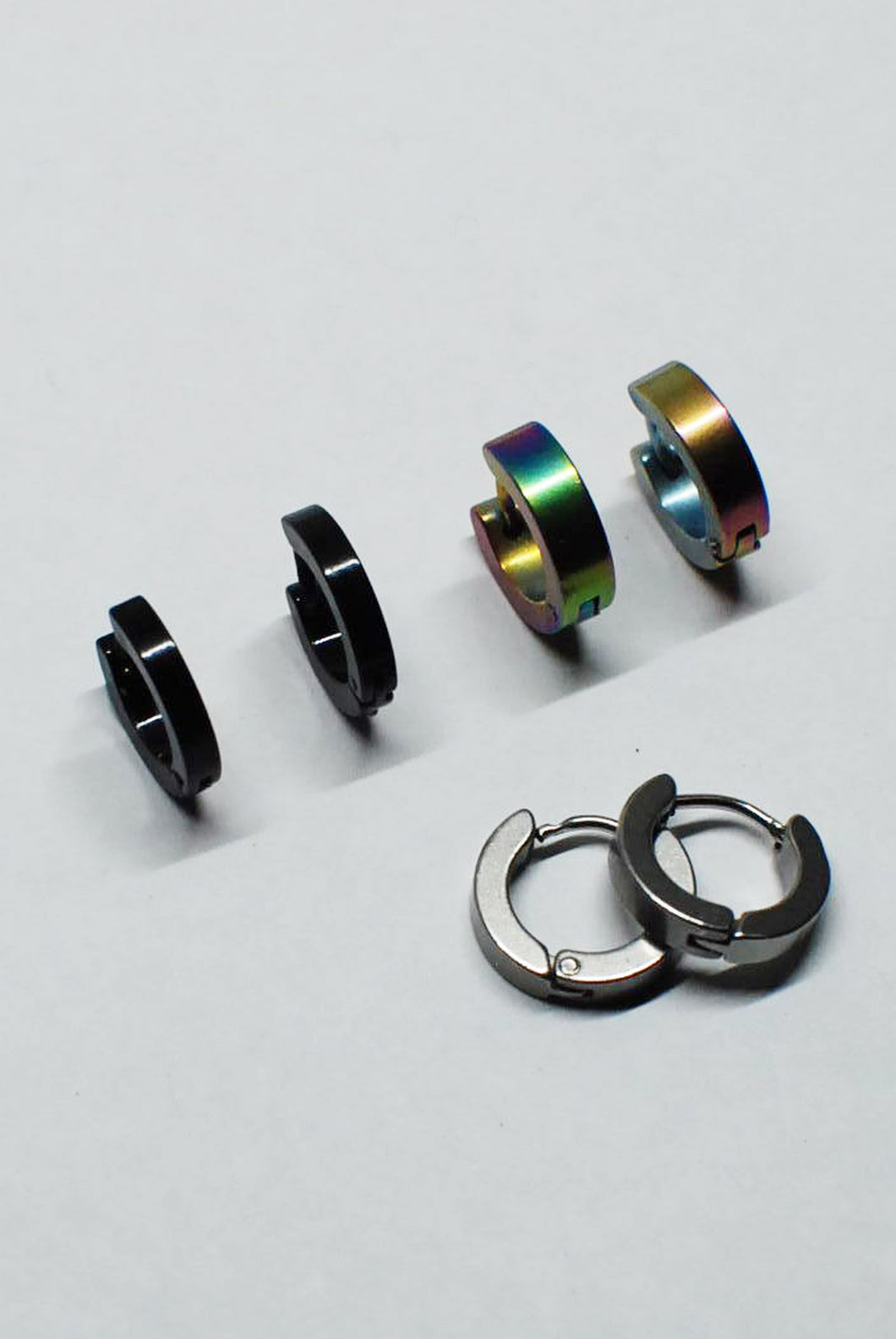Punk Rock Stainless Steel Small Hoops