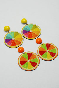 Flat Citrus Stud Earrings