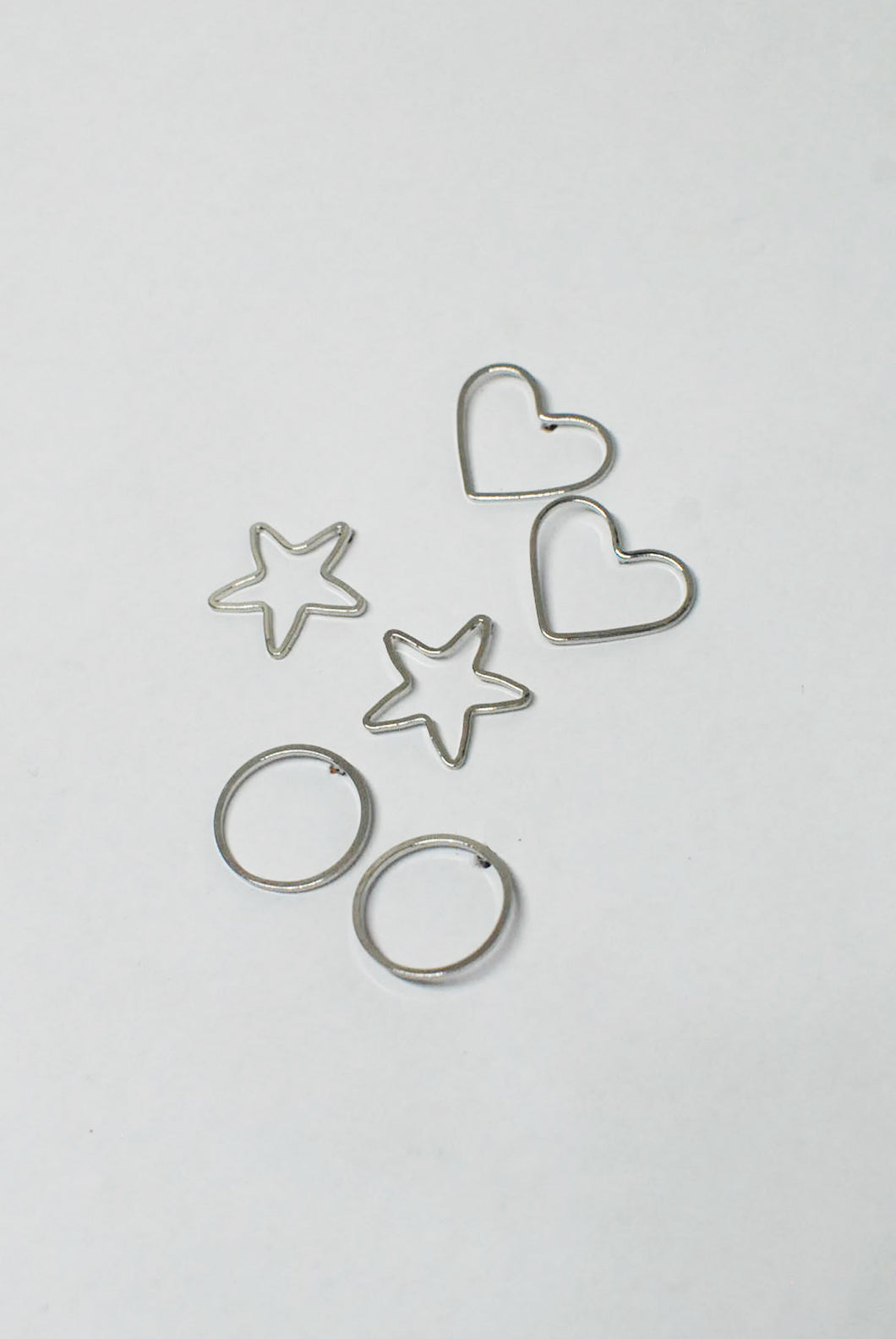 Fine Silver Shape Stud Earrings