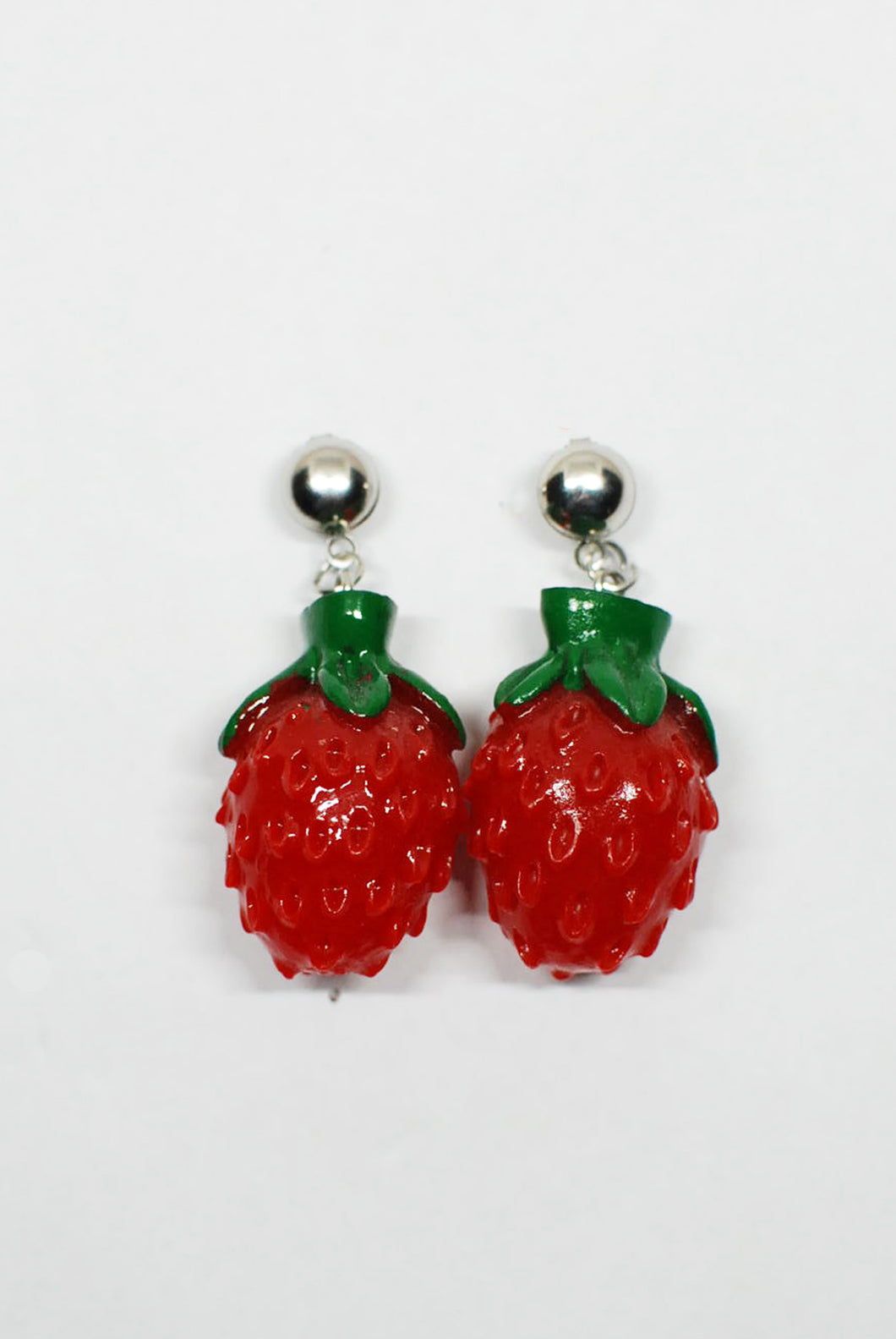 Full Strawberry Drop Earrings