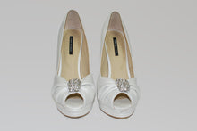 Load image into Gallery viewer, Tony Bianco Brand Cream Leather Peep-Toe