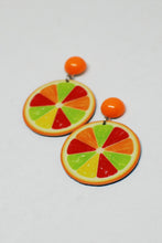 Load image into Gallery viewer, Flat Citrus Stud Earrings