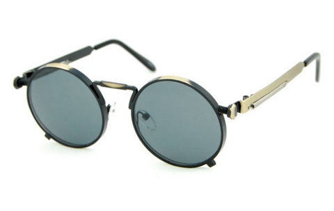 NEW SteamPunk Style Round Sunglasses