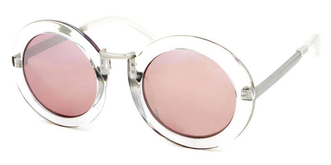 NEW Round Clear Framed Sunglasses