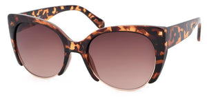 Cat Eye 3/4 Framed Sunglasses (Available in 3 colours)