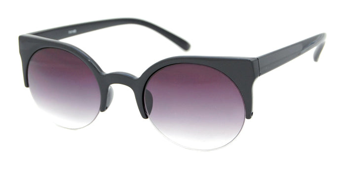 Black Cat Eye 1/2 Frame Sunglasses