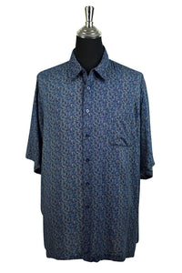 Puritan Brand Abstract Print Party Shirt