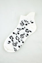 Load image into Gallery viewer, NEW Music Notes Anklet Socks