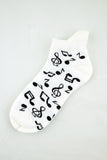 NEW Music Notes Anklet Socks