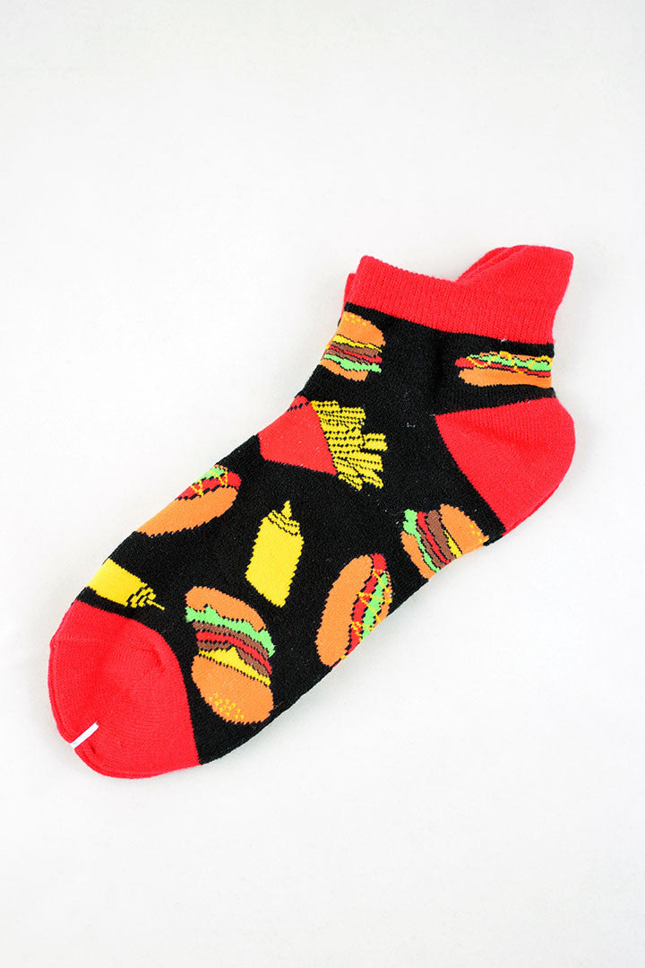 NEW Black Fast Food Anklet Socks