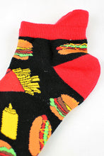 Load image into Gallery viewer, NEW Black Fast Food Anklet Socks