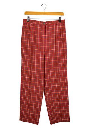 Reworked Red Checkered Pants
