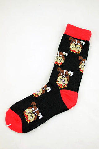 NEW Bulldog Black Socks