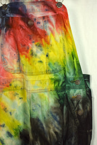 Something Brand Tie Dye Long Overalls