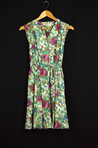 Reworked Floral Print Dress