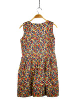 Load image into Gallery viewer, Reworked Vintage Dress With Scribble Style Print