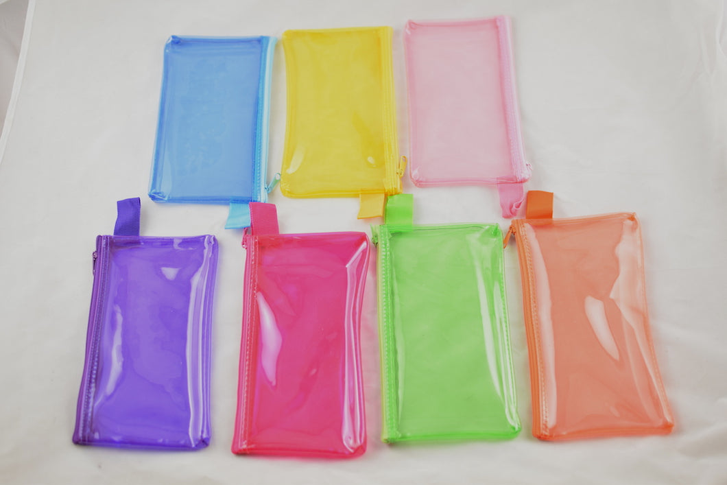 NEW See-Through Plastic Wallet/Makeup Case