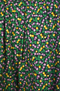 Reworked Berry Print Skirt