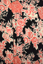 Load image into Gallery viewer, 80s More Promises Brand Red Rose Print Dress -