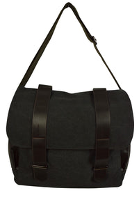 NEW Canvas Satchel Bag with Faux Leather Straps (Available in 3 colours)