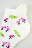 NEW Flamingo and Crocodile Anklet Socks