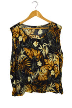 Load image into Gallery viewer, Lindor Petite Brand Leaf print Singlet Top