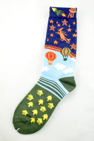 NEW Hot Air Balloon and Space Socks
